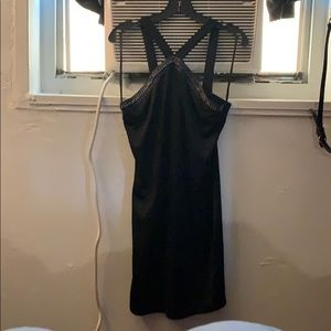 Black cocktail dress .